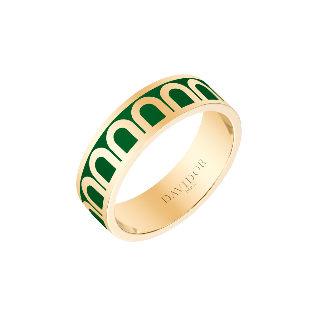 "18k Yellow Gold & Palais Royal Lacquer ""L'Arc"" Medium Band"