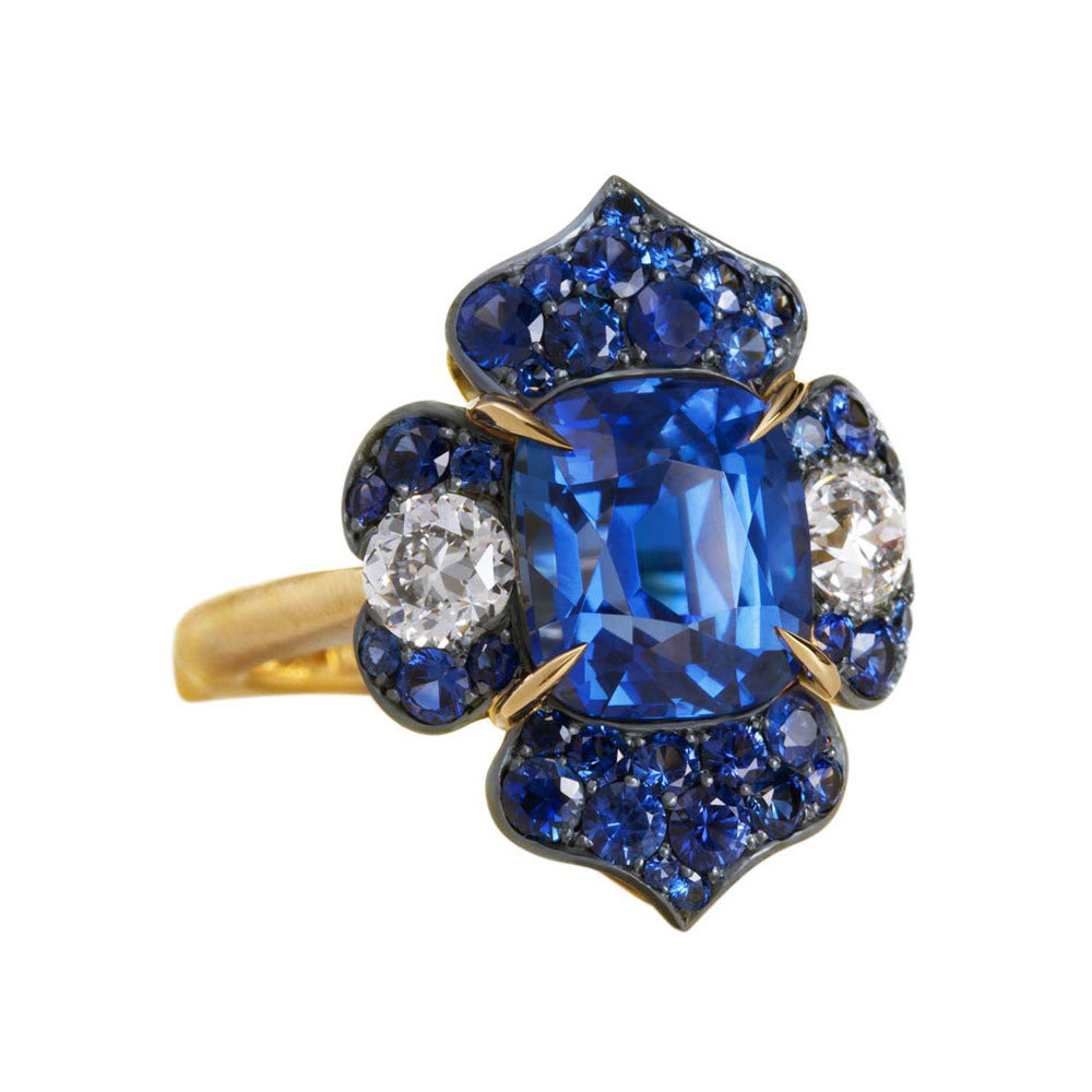 "5.77ct Sapphire ""Moody Blue"" Ring"