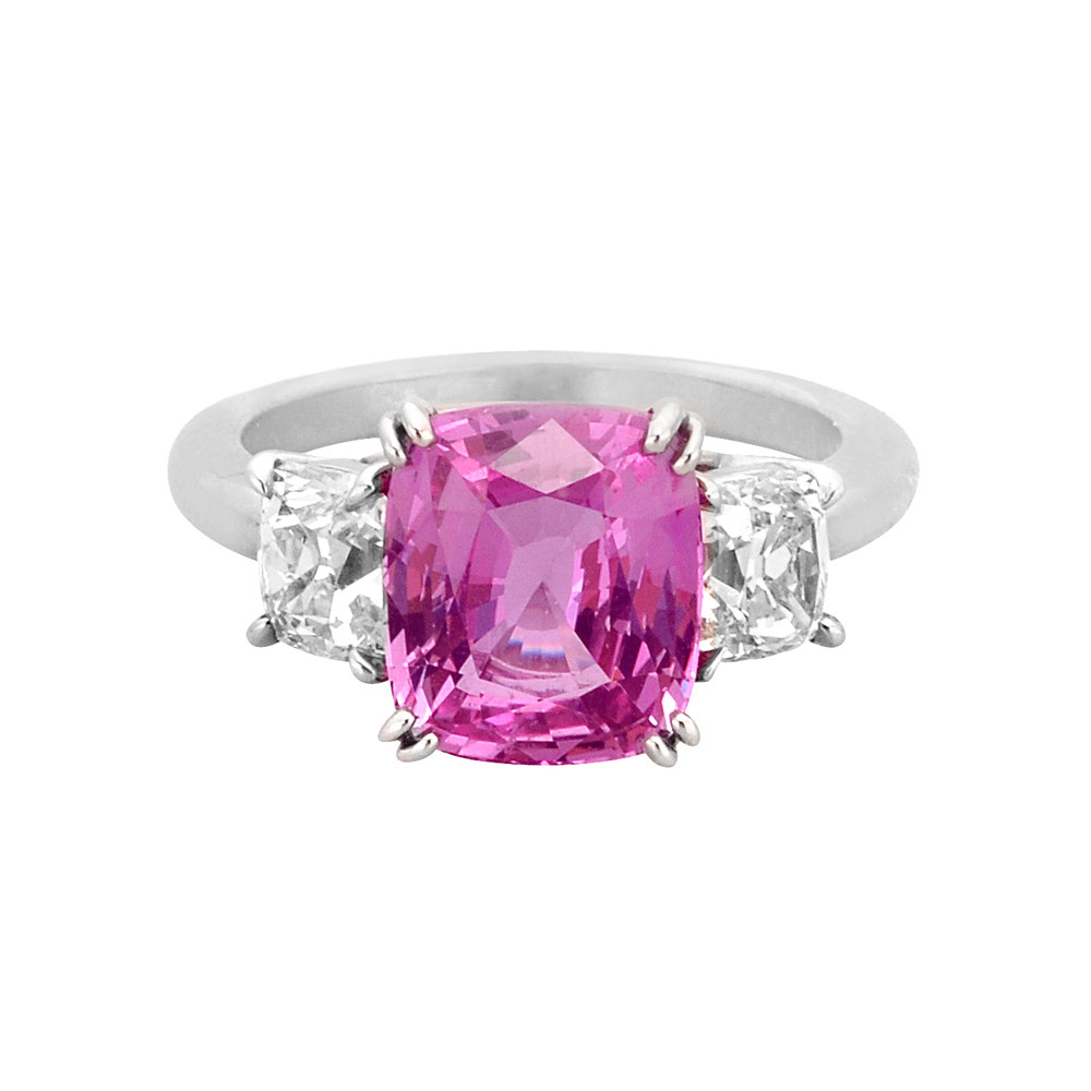 Betteridge 4.71 Carat Cushion-Cut Pink Sapphire Ring | Betteridge