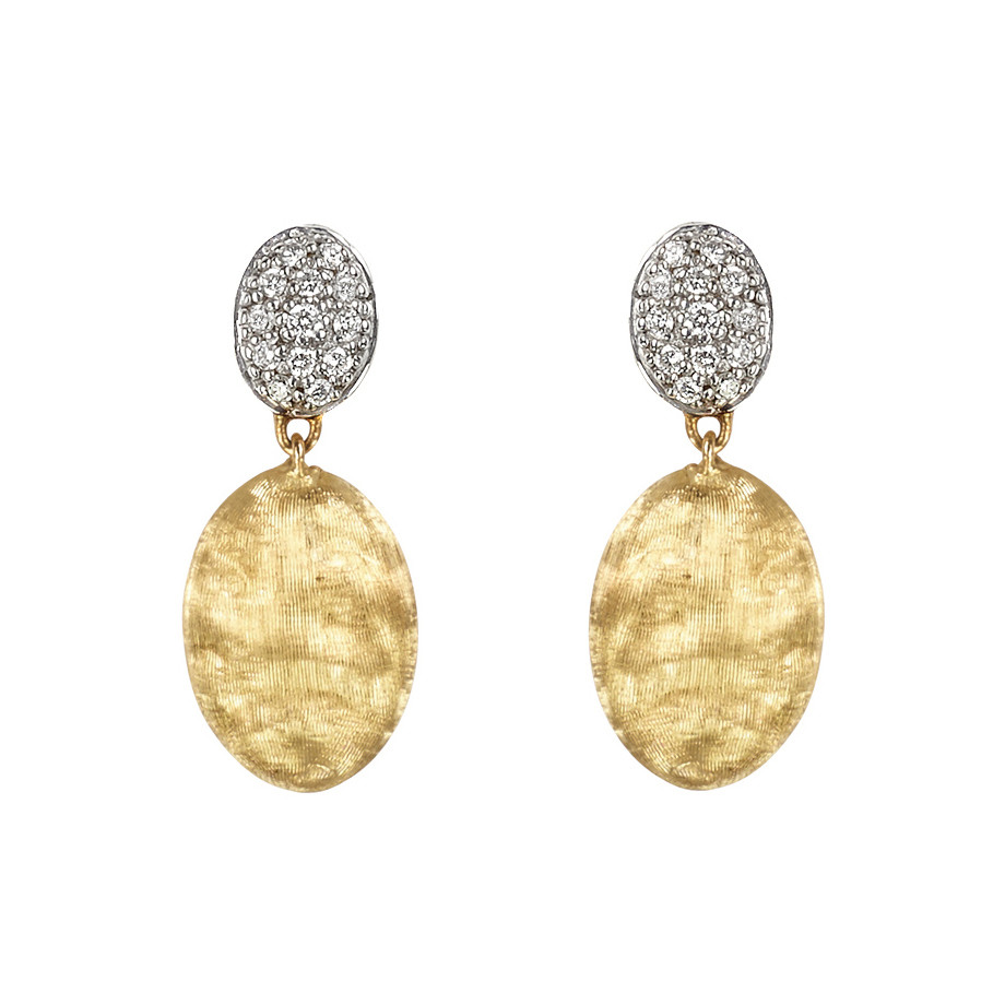 "18k Gold & Diamond ""Siviglia"" Drop Earrings"