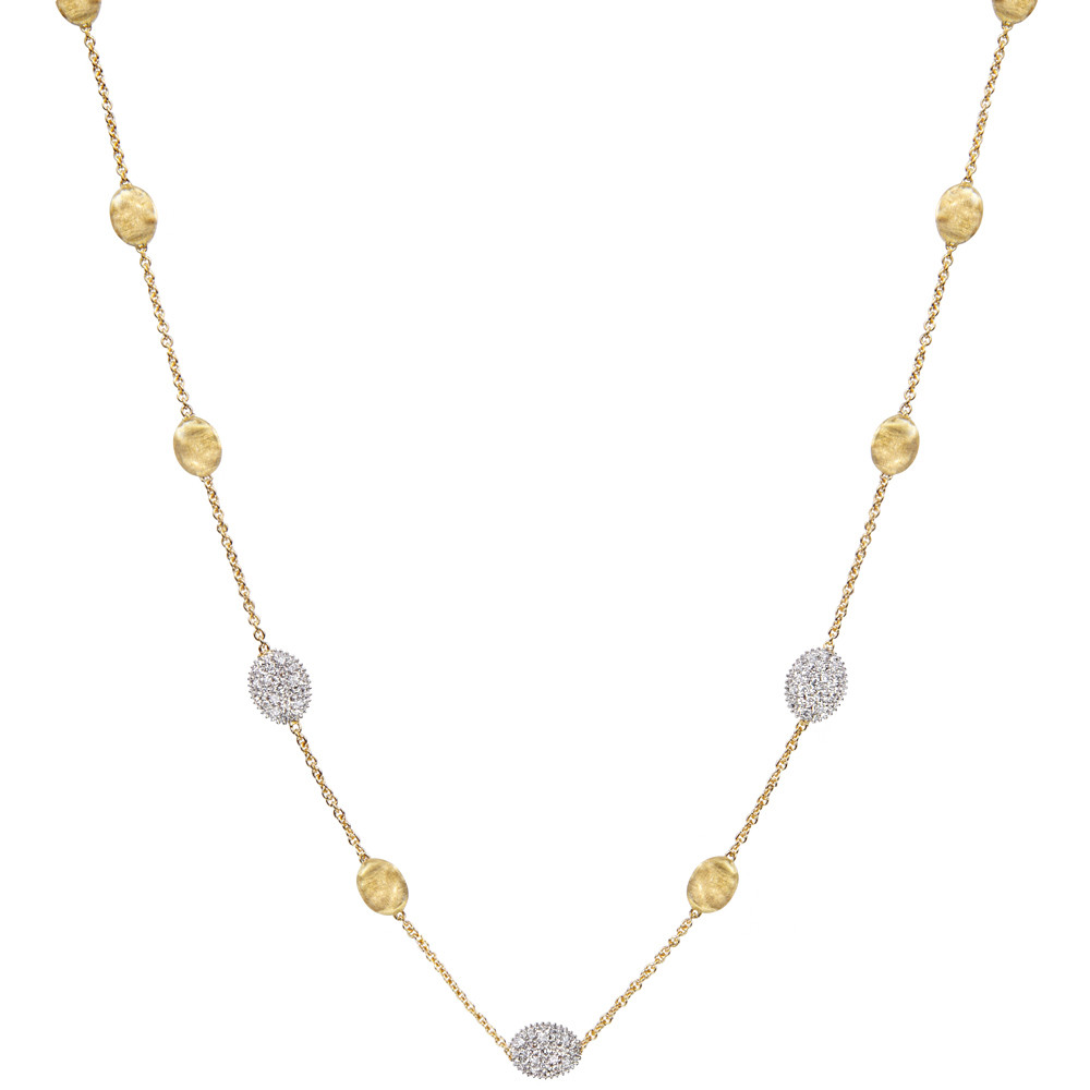 "18k Gold & Diamond ""Siviglia"" Small Bead Necklace"