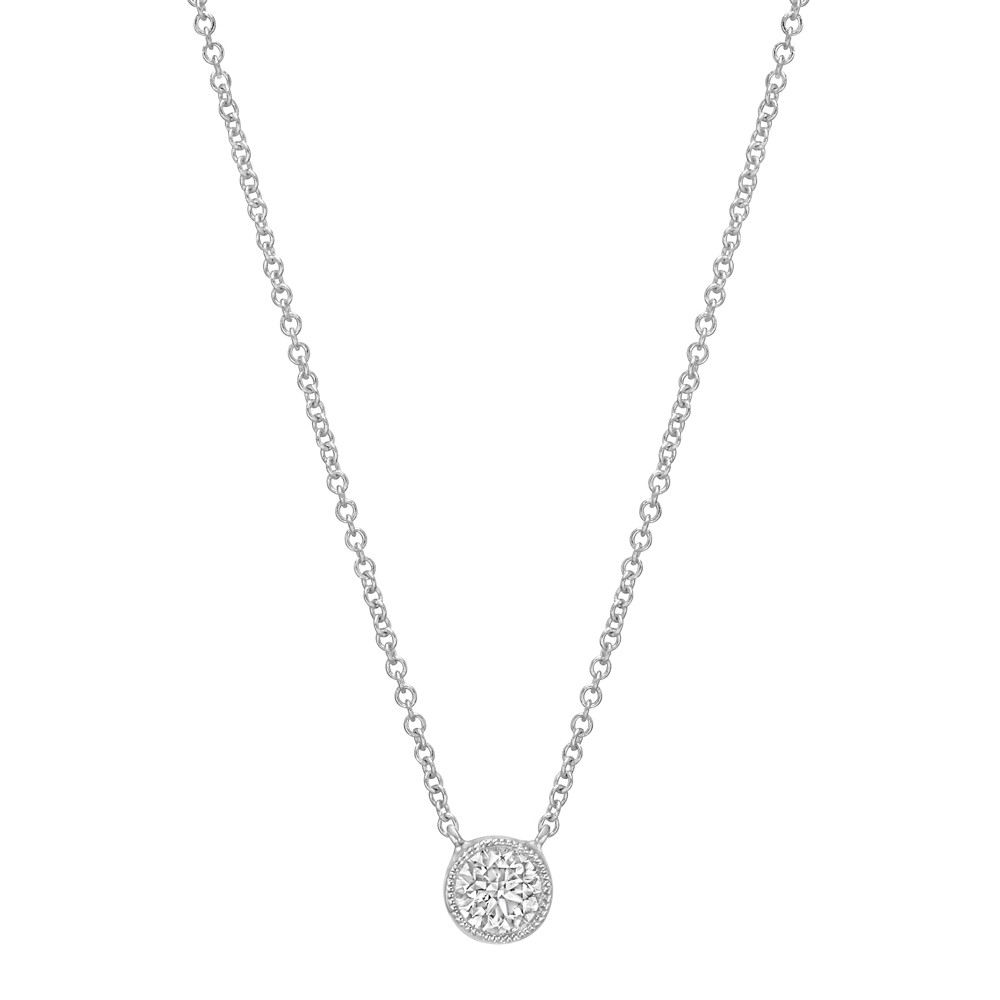0.37ct Round Brilliant Diamond Solitaire Pendant