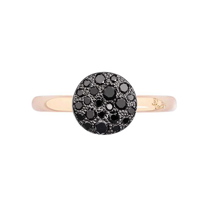 "Small Black Diamond ""Sabbia"" Ring"