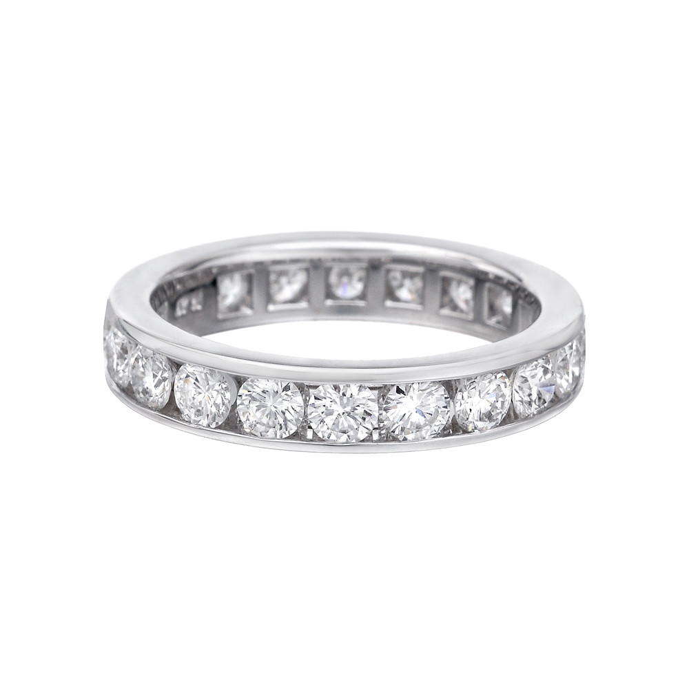 ring eternity round diamond product anniversary band carat cut bands stone