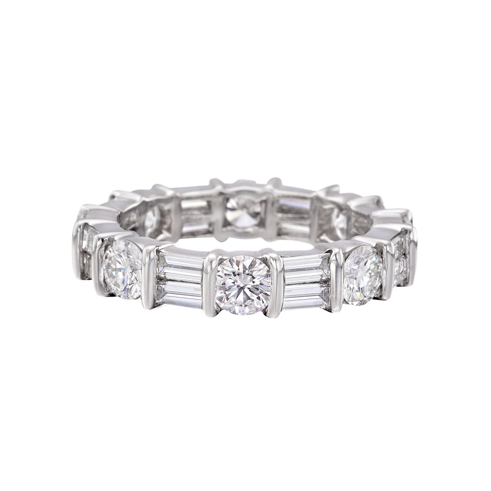 Round Amp Baguette Diamond Eternity Band 3 Ct Tw Betteridge