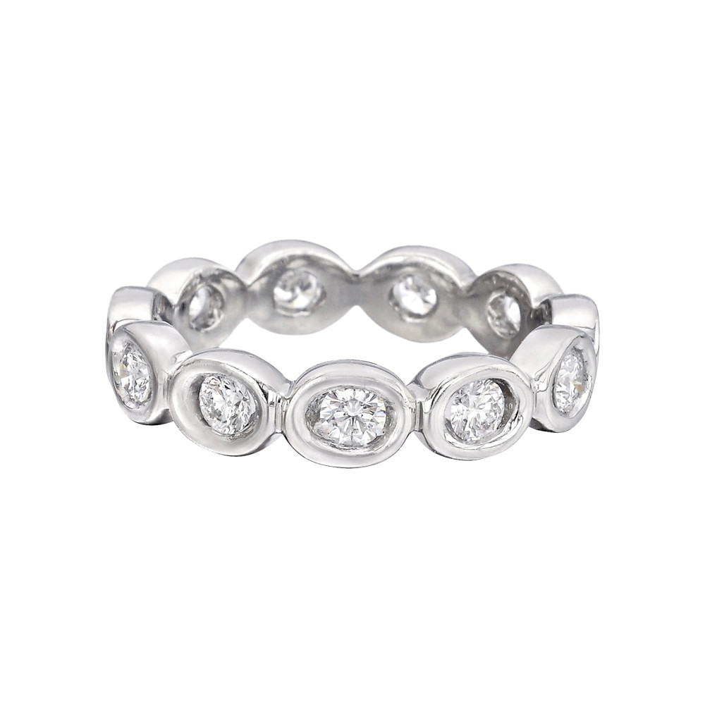 "18k White Gold & Diamond ""Oasis"" Eternity Band"