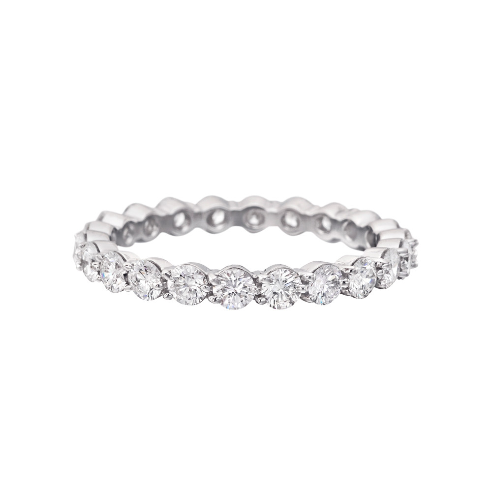shared platinum bands g round product band prong wedding eternity diamond ring
