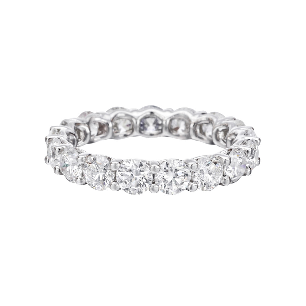 Round Brilliant Diamond Eternity Band 3 Ct Tw: Link Diamond Wedding Band At Reisefeber.org