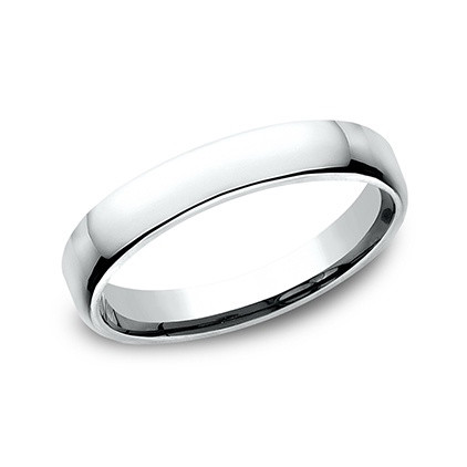 Platinum Comfort Fit Wedding Band (3.5mm)