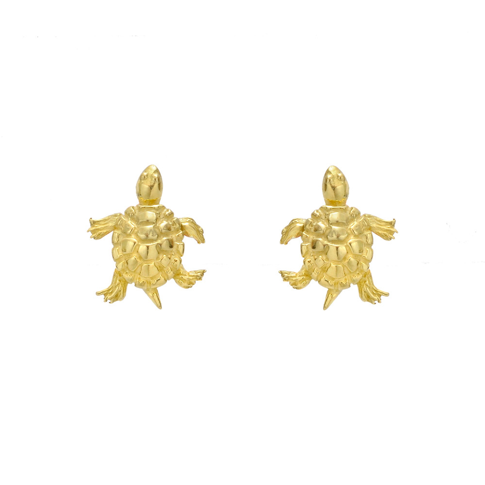 paradise plated blue spade i stud gold kate earrings turtle goldblue found