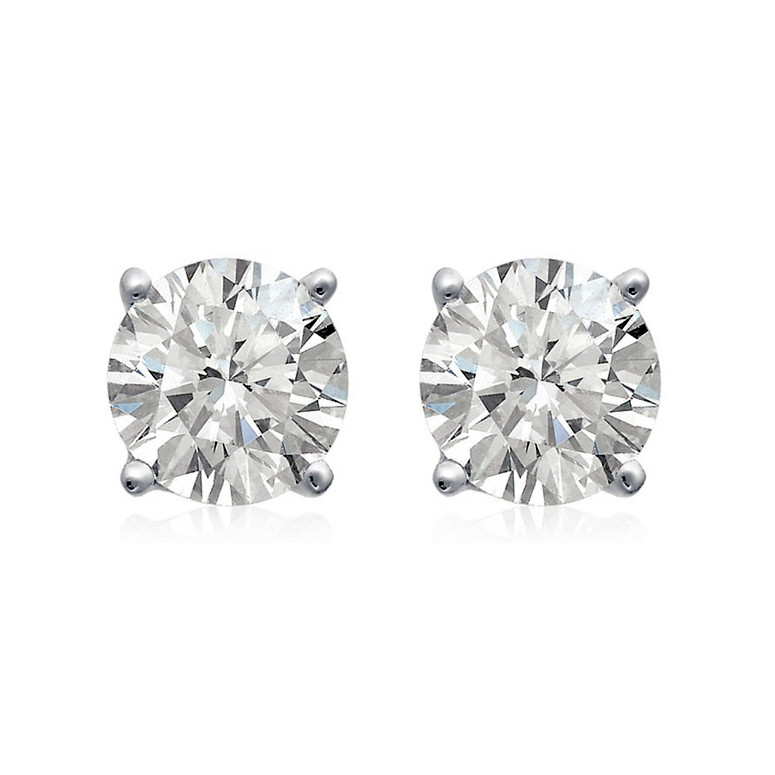 2 53 Carat Round Brilliant Diamond Stud Earrings