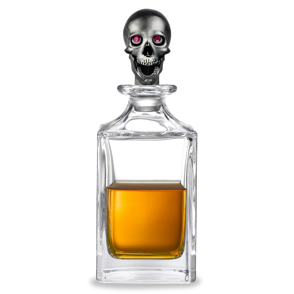 Black Skull Crystal Glass Decanter
