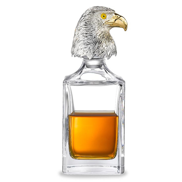 Eagle Head Crystal Glass Decanter