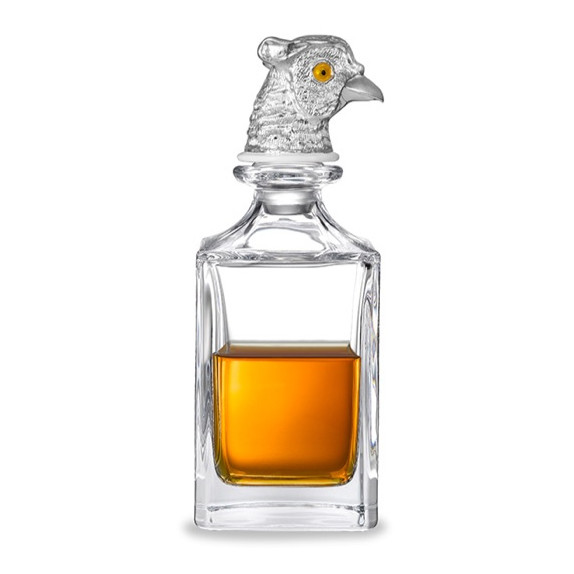 Pheasant Head Crystal Glass Decanter