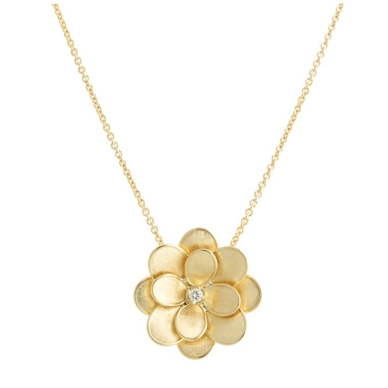 "18k Yellow Gold & Diamond ""Lunaria Petali"" Pendant Necklace"