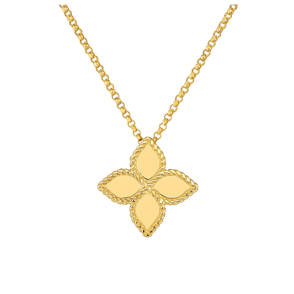 "Medium 18k Yellow Gold ""Princess Flower"" Pendant"