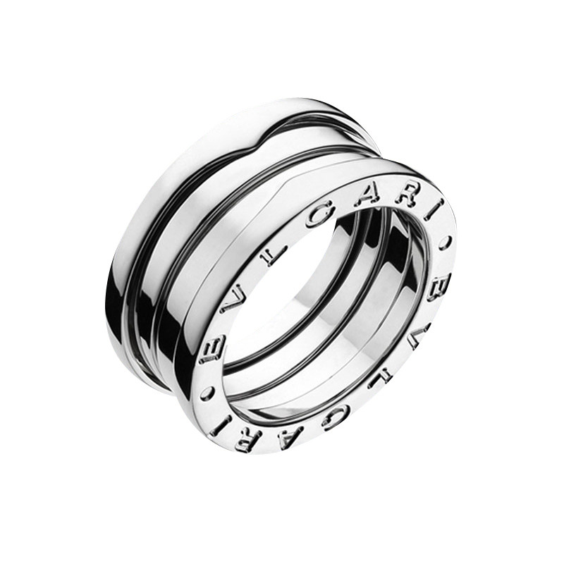 "18k White Gold ""B.Zero1"" 3-Band Ring"