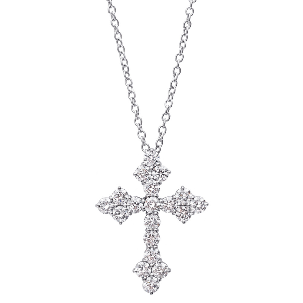 Diamond Byzantine Cross Pendant