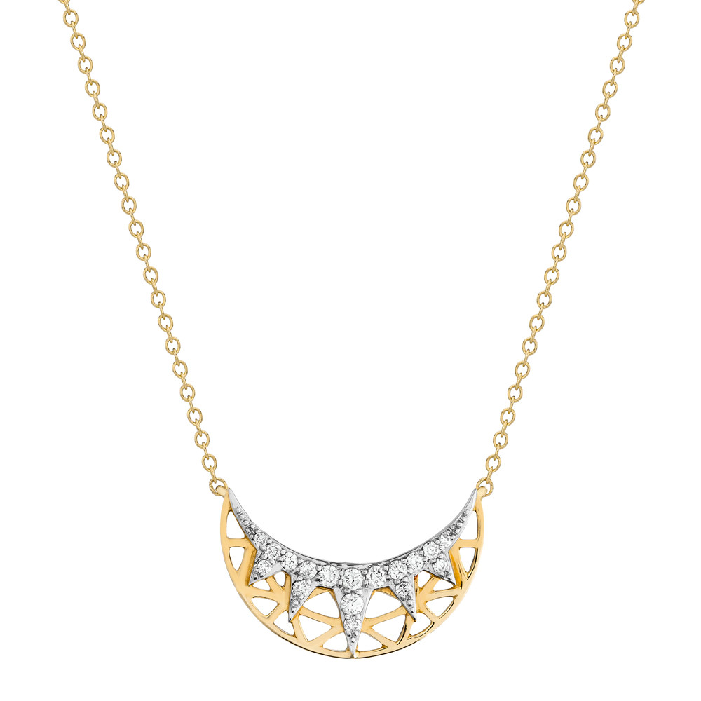 "18k Gold & Diamond ""Liberte"" Pendant Necklace"