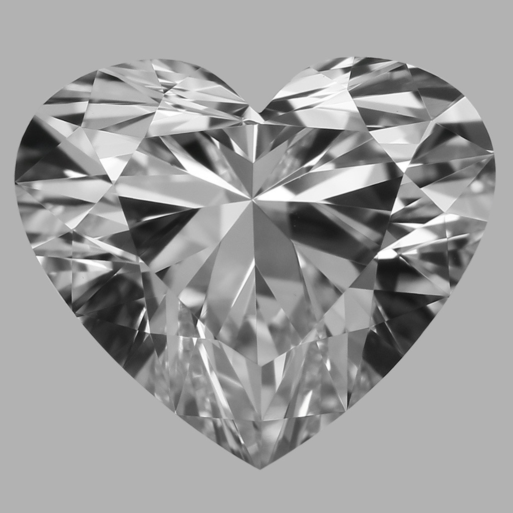 0.77 Carat Heart Diamond (D/VVS2)