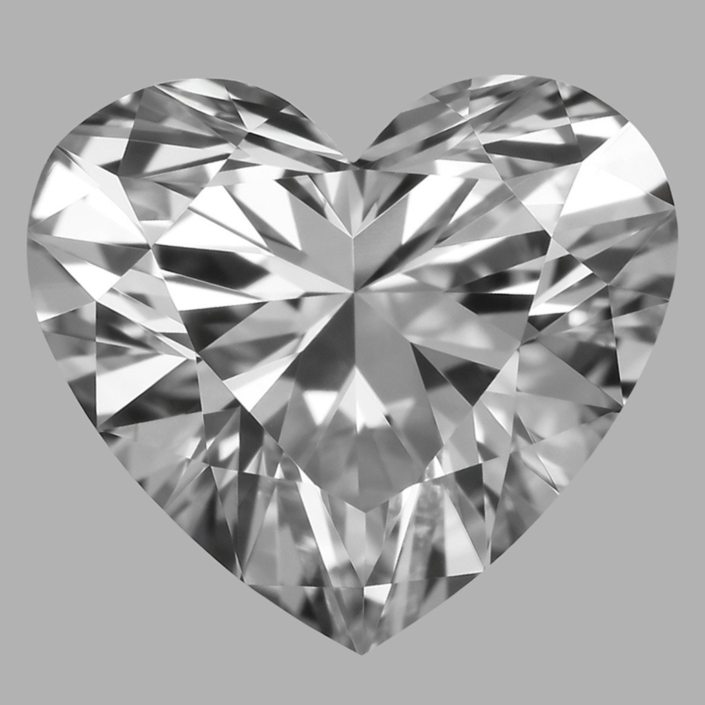 0.81 Carat Heart Diamond (D/VVS2)