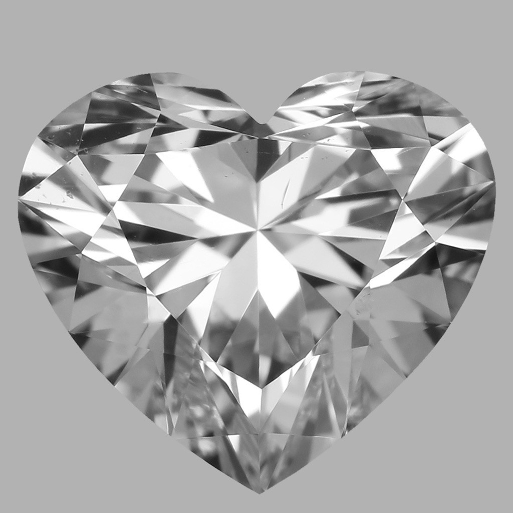 0.81 Carat Heart Diamond (D/VS2)