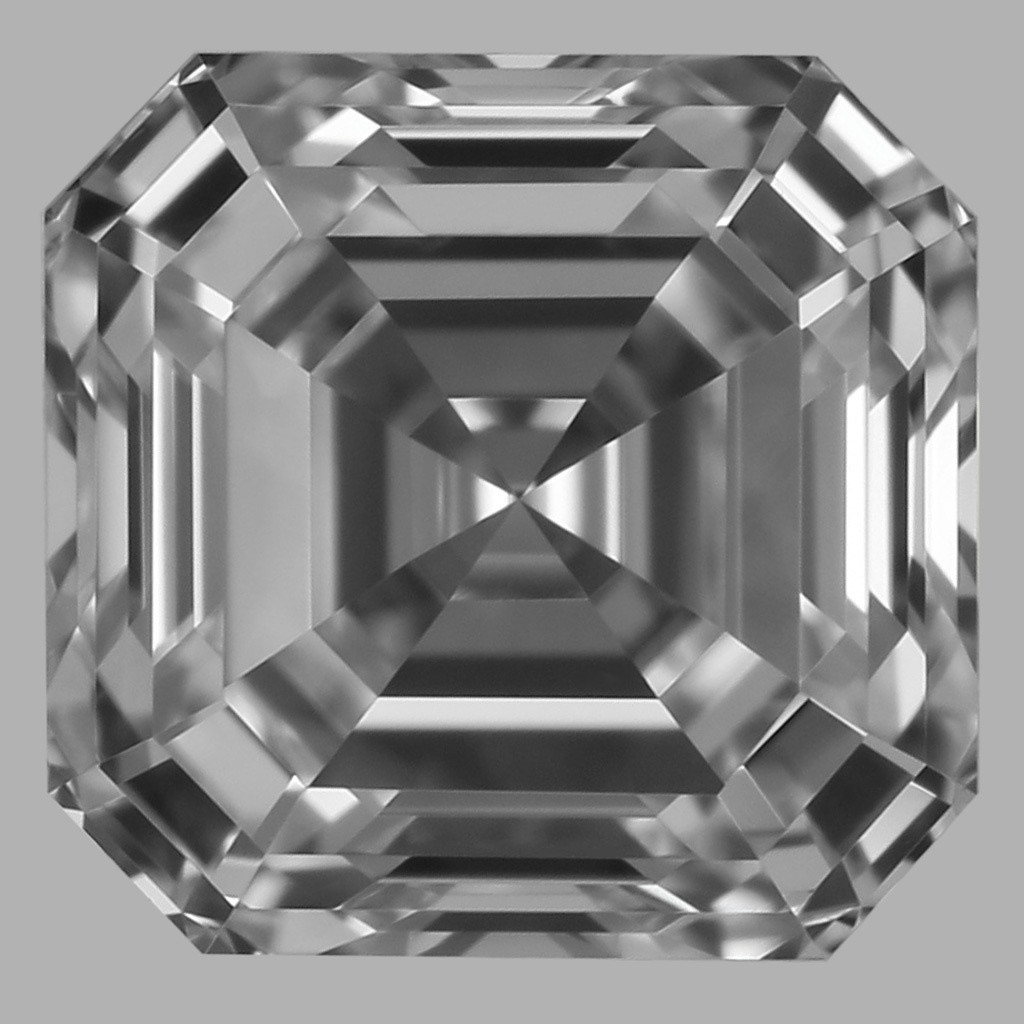 0.78 Carat Asscher Diamond (D/IF)