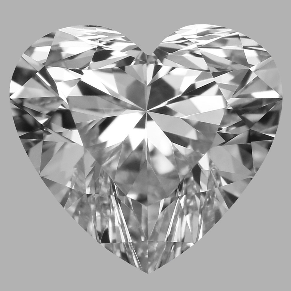 0.91 Carat Heart Diamond (D/IF)