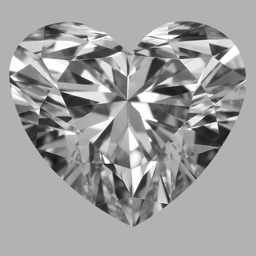 0.80 Carat Heart Diamond (D/VVS1)