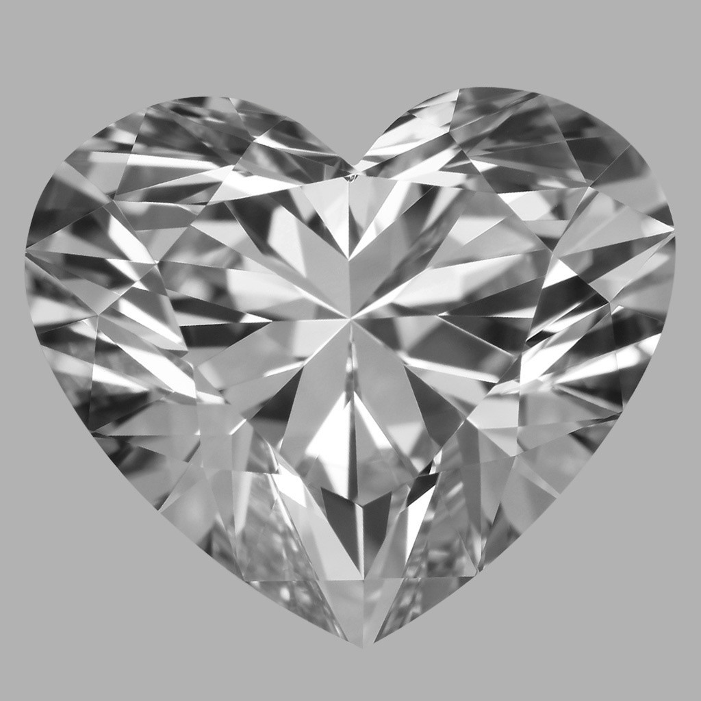 3.09 Carat Heart Diamond (F/VVS1)