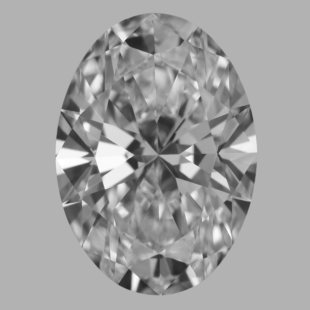 1.71 Carat Oval Diamond (D/VVS2)