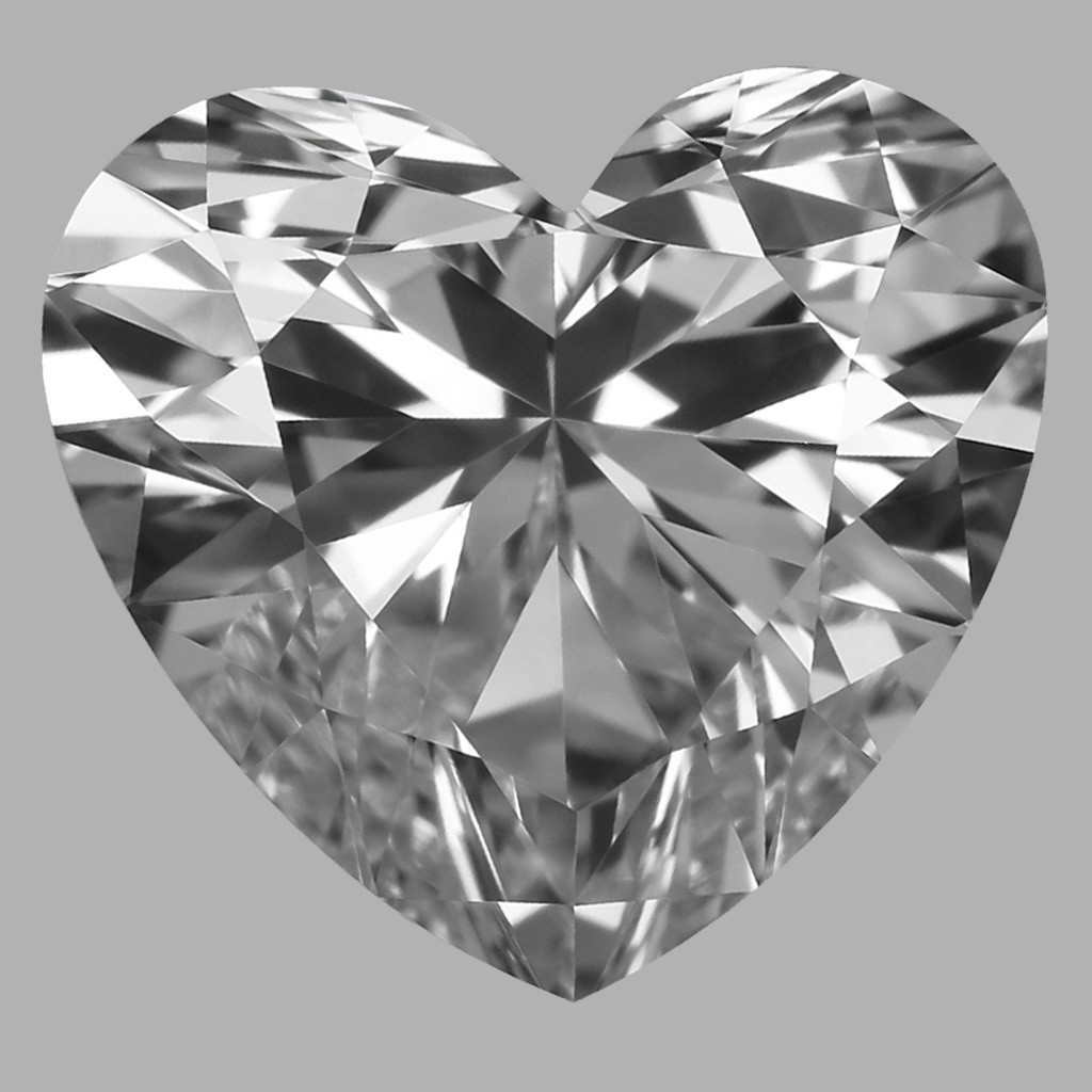 0.90 Carat Heart Diamond (D/VVS1)