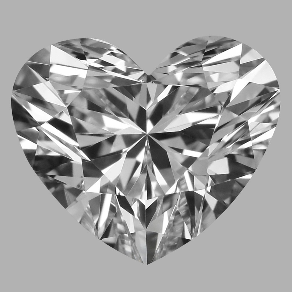 1.01 Carat Heart Diamond (D/VVS1)