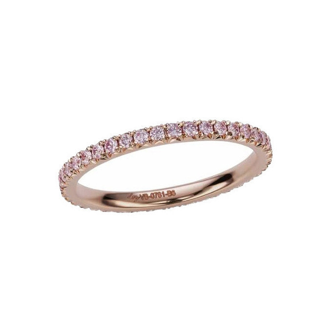 Pink Diamond Eternity Band Ring (0.36ct tw)