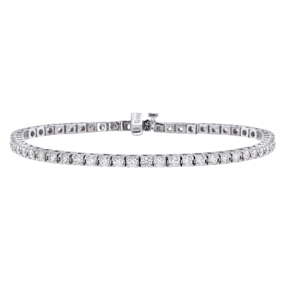 Round Brilliant Diamond Line Bracelet (4.37ct tw)
