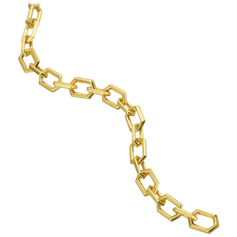"18k Yellow Gold ""B"" Link Bracelet"