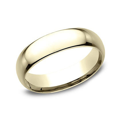 18k Yellow Gold Comfort Fit Wedding Band (6mm)