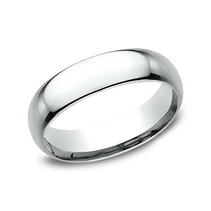 Platinum Comfort Fit Wedding Band (6mm)