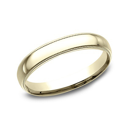 18k Yellow Gold Milgrain Wedding Band (3mm)