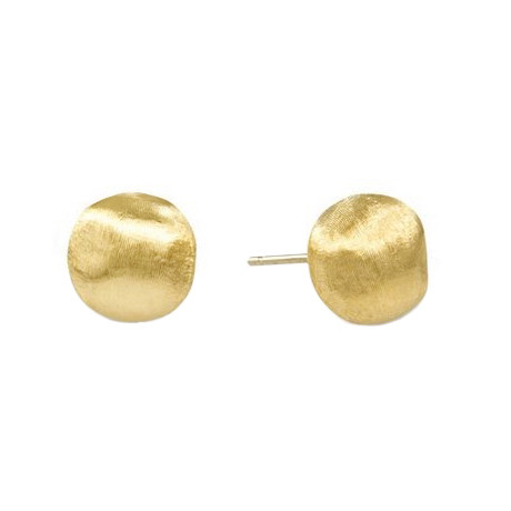 """Small 18k Yellow Gold """"Africa"""" Stud Earrings"""