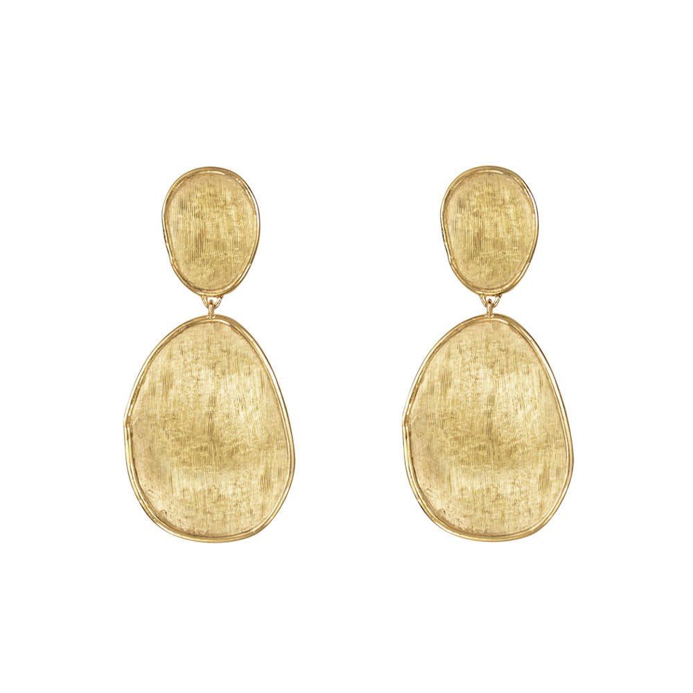 "Small 18k Yellow Gold ""Lunaria"" Drop Earrings"