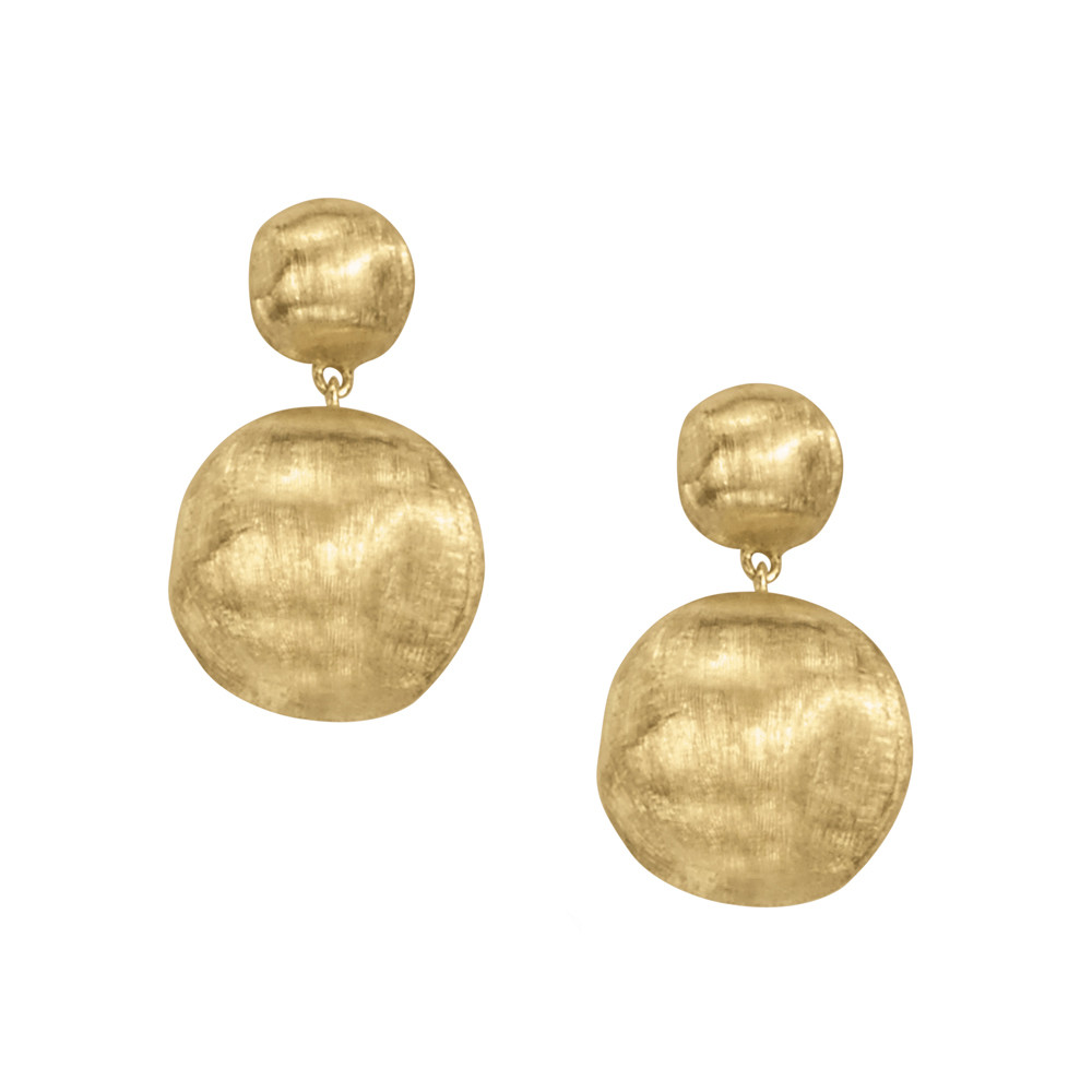 "18k Yellow Gold ""Africa"" Small Drop Earrings"