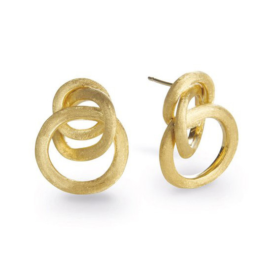 "18k Yellow Gold ""Jaipur"" Small Knot Earrings"