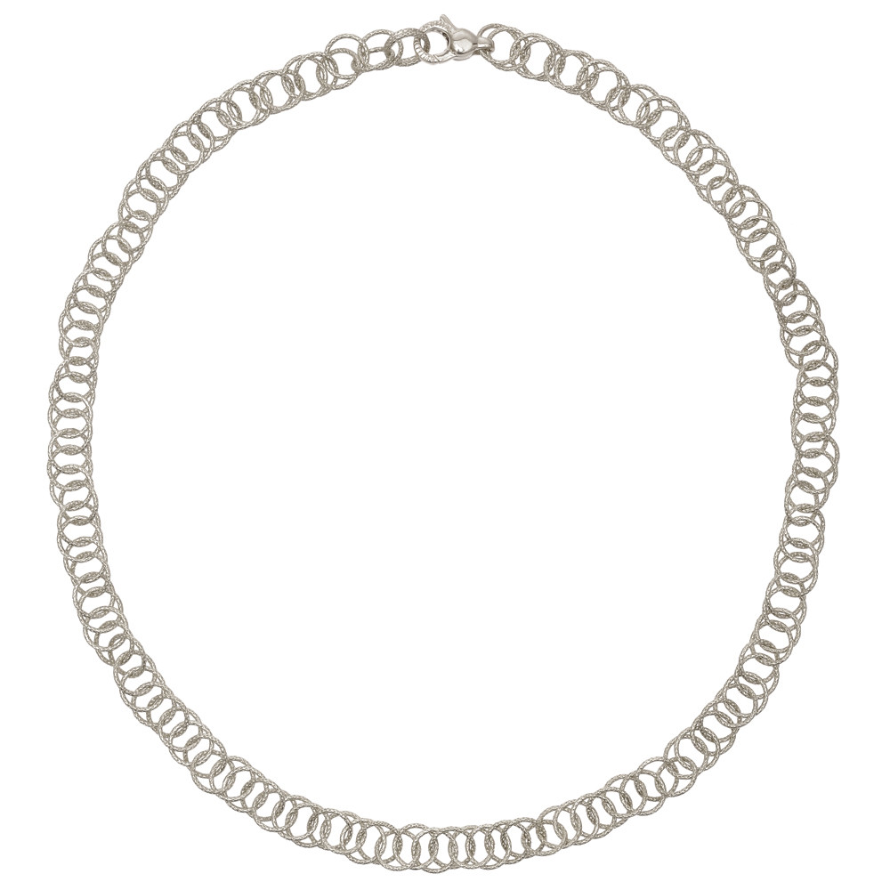 "18k White Gold ""Honolulu"" Link Necklace"