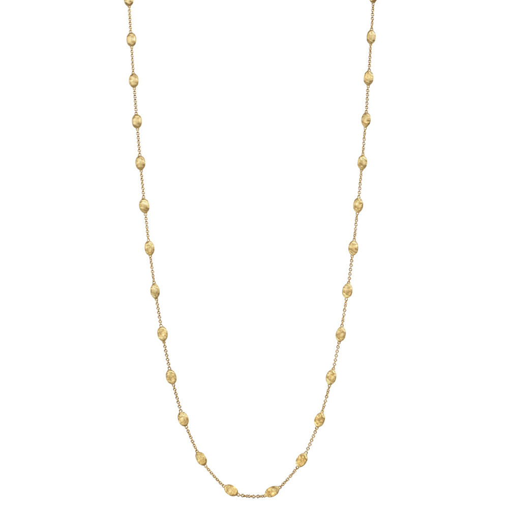 "18k Yellow Gold ""Siviglia"" Bead Long Necklace"