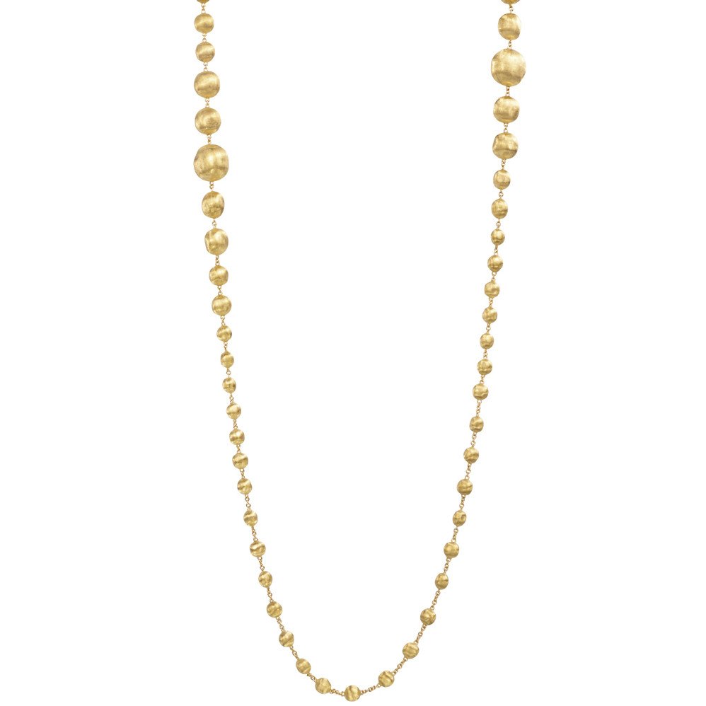 "18k Yellow Gold ""Double Wave"" Bead Necklace"