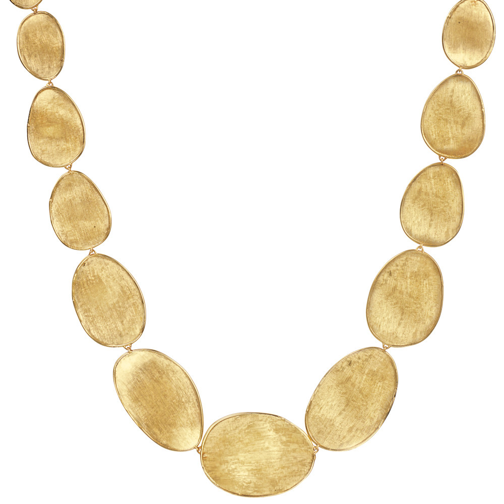 "18k Yellow Gold ""Lunaria"" Link Necklace"