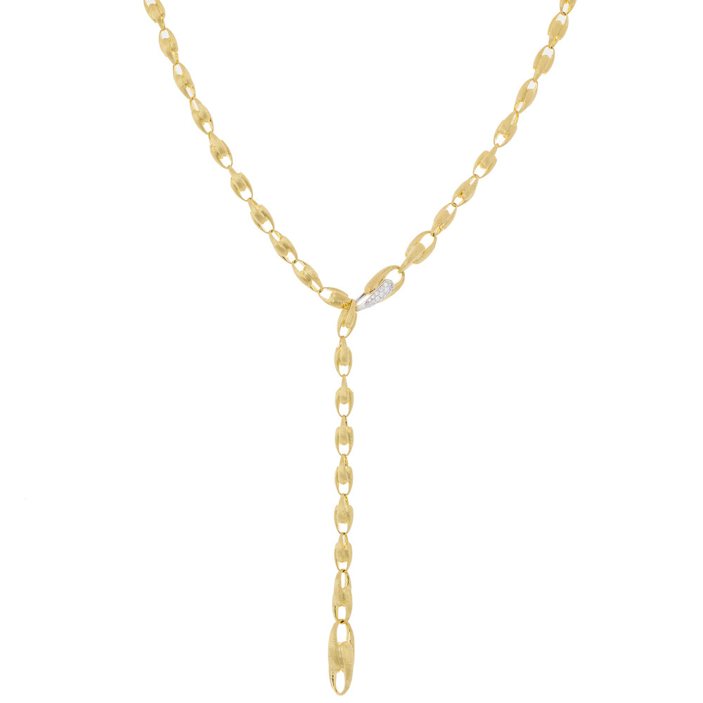"18k Yellow Gold & Diamond ""Lucia"" Lariat Necklace"