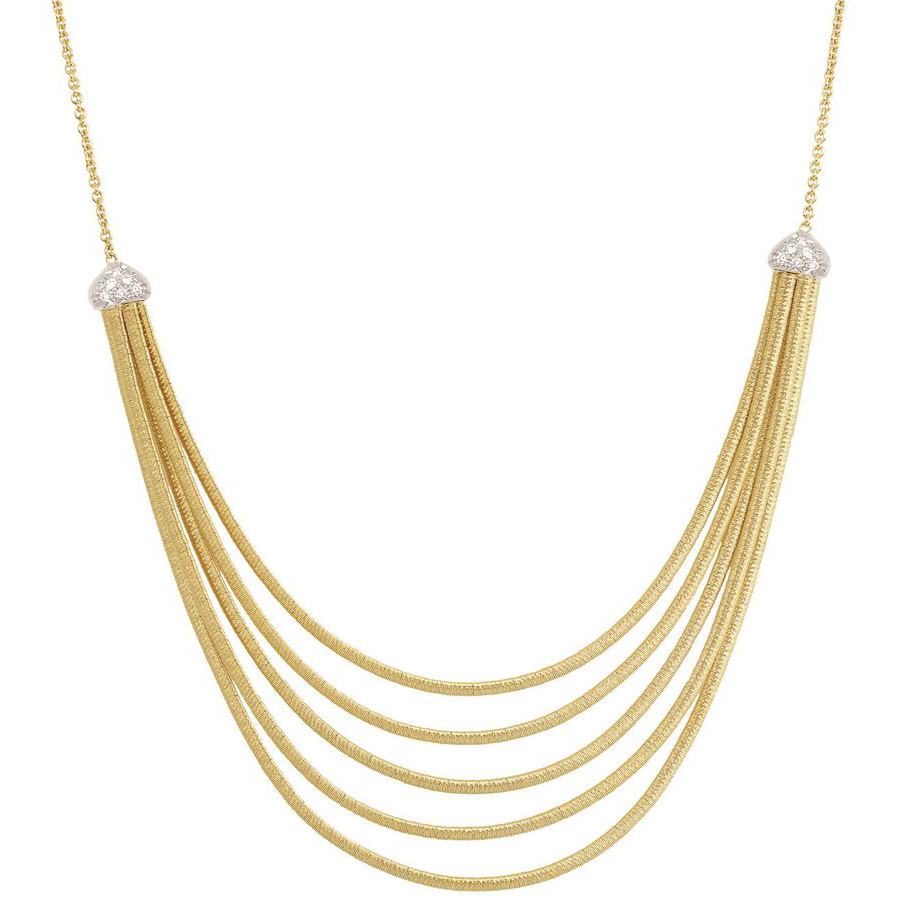 "18k Gold & Diamond ""Cairo"" 5-Strand Necklace"
