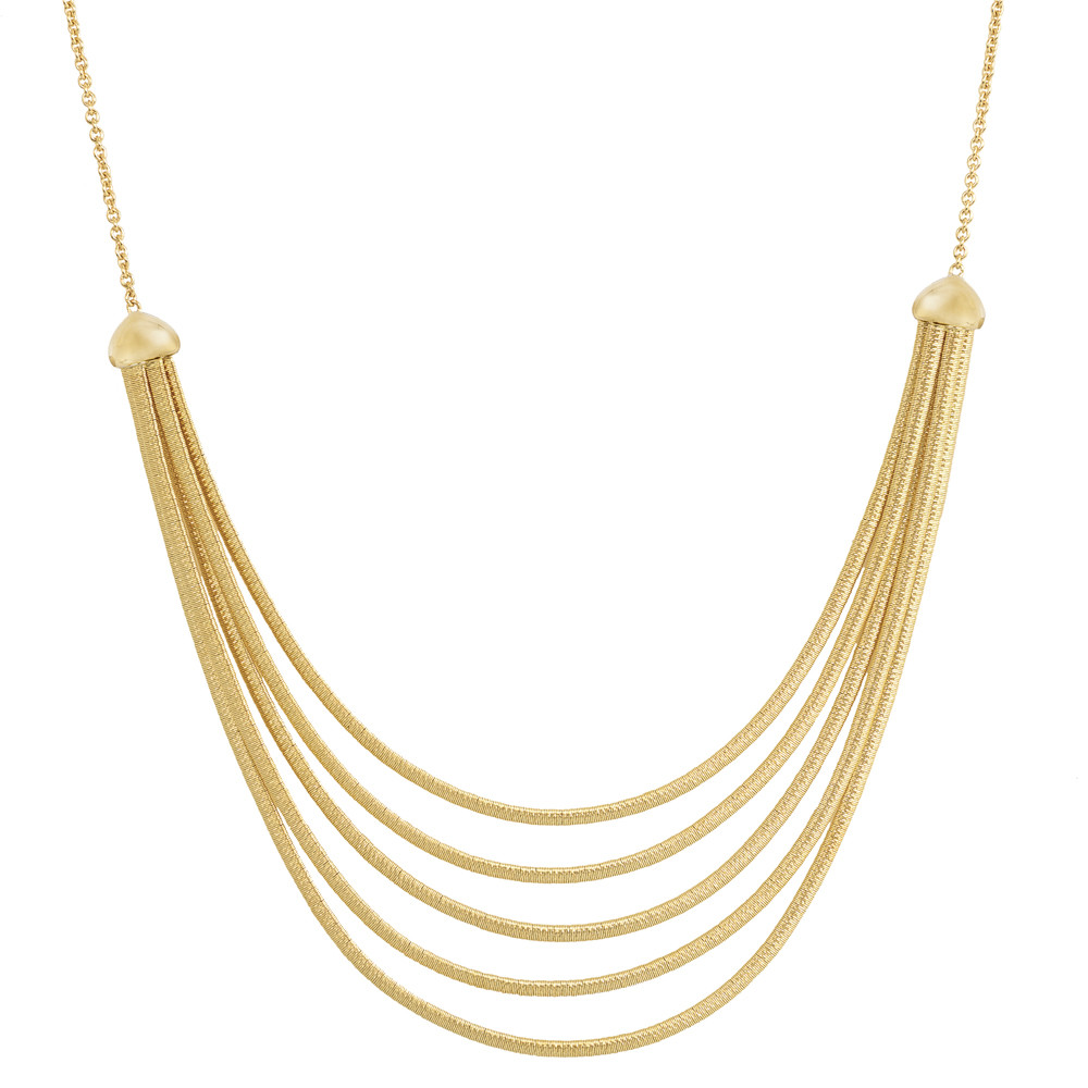 "18k Yellow Gold ""Cairo"" 5-Strand Necklace"